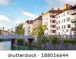 romantic medieval ljubljana's... | Shutterstock . vector #188016644