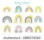 spring rainbows set. hand drawn ...   Shutterstock .eps vector #1880176183
