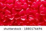 hearts background. love ... | Shutterstock . vector #1880176696