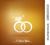 wedding rings vector icon on a... | Shutterstock .eps vector #188020310