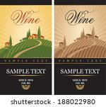 wine labels with a landscape of ... | Shutterstock .eps vector #188022980