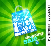 sale bag. shopping background. | Shutterstock .eps vector #188023154