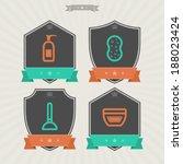bathroom utensils and other... | Shutterstock .eps vector #188023424