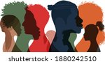 silhouette profile group of men ... | Shutterstock .eps vector #1880242510