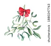 Watercolor Mistletoe Bouquet...