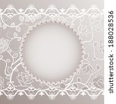 vintage card with lace and... | Shutterstock .eps vector #188028536