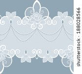 lace pattern with pearls and... | Shutterstock .eps vector #188028566