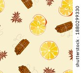 Seamless Pattern With Oranges...