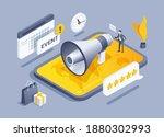 isometric vector illustration... | Shutterstock .eps vector #1880302993