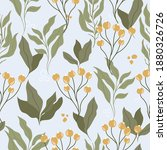 seamless pattern floral style...   Shutterstock .eps vector #1880326726
