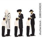 birkat habanim   the jewish...   Shutterstock .eps vector #1880340820