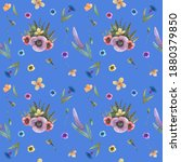 Watercolor Seamless Pattern On...