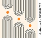 contemporary  geometric... | Shutterstock .eps vector #1880407219