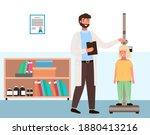 doctor measures the child's... | Shutterstock .eps vector #1880413216