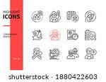 coronavirus disease   line... | Shutterstock .eps vector #1880422603