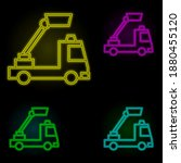 vertical lift truck neon color...
