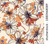 Floral Background. Large...