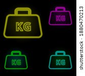 package kg neon color set icon. ...