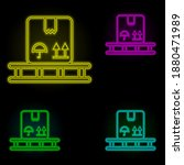 box neon color set icon. simple ...