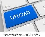 upload blue keyboard | Shutterstock . vector #188047259