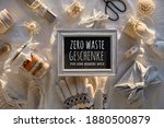 Blackboard With Text Zro Waste...