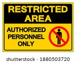 restricted area authorized...   Shutterstock .eps vector #1880503720