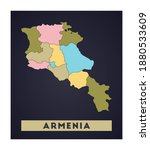 Armenia Map. Country Poster...