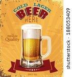 pint. mug of beer. poster in... | Shutterstock .eps vector #188053409