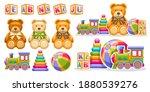 vector set for kids toys  lot...   Shutterstock .eps vector #1880539276