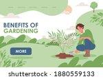 benefits of gardening landing... | Shutterstock .eps vector #1880559133