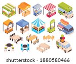 isometric food courts fair... | Shutterstock .eps vector #1880580466