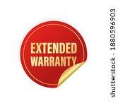 vintage extended warranty... | Shutterstock .eps vector #1880596903