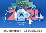 2021 new year design card... | Shutterstock .eps vector #1880601013