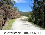 Small photo of The Convict Trail Great North Road Historical Site at Wisemans Ferry New South Wales, Australia. The remains of a convict built road linking Sydney to Newcastle