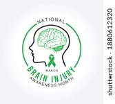 national brain injury awareness ...   Shutterstock .eps vector #1880612320