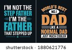 world's best dad  like a normal ... | Shutterstock .eps vector #1880621776