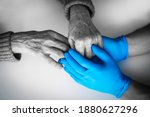 Doctor's Hands In A Blue Gloves ...