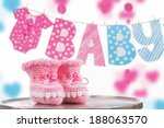 cute baby element with word... | Shutterstock . vector #188063570
