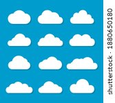 set of white clouds icon vector ... | Shutterstock .eps vector #1880650180