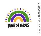mardi gras traditional carnival....   Shutterstock .eps vector #1880650210