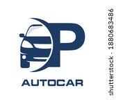letter p with car vector logo... | Shutterstock .eps vector #1880683486