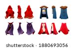 realistic magic red cape of... | Shutterstock .eps vector #1880693056