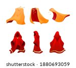 realistic magic red cape of... | Shutterstock .eps vector #1880693059