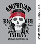 native american indian chief... | Shutterstock .eps vector #188070116