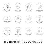 nail art studio logo set.... | Shutterstock .eps vector #1880703733