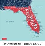 florida state detailed editable ... | Shutterstock .eps vector #1880712739