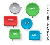 speech bubbles. | Shutterstock .eps vector #188071718