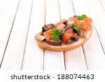 delicious bruschetta with... | Shutterstock . vector #188074463
