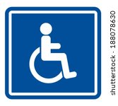 disabled handicap icon | Shutterstock .eps vector #188078630