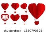 hearts hot air balloon...   Shutterstock .eps vector #1880790526